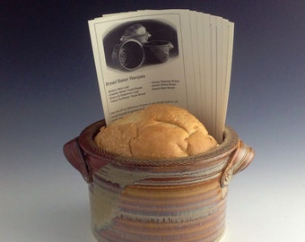 Bread baker / Bread Bowl w/ recipe cards - Natural