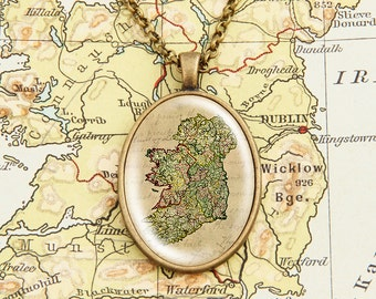 Map of Ireland - Vintage Necklace