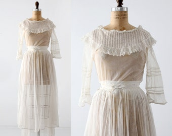 Victorian white dress, xs antique dress