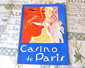 Casino de Paris  Paris Original French  Theater   Program