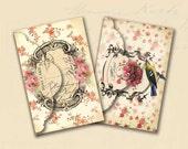 Paris Envelopes No 2 Shabby Chic Paris Envelopes Marie Antoinette Roses Digital Paper Instant Download