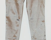 Vintage Silver Gray Stretch Stovepipe Pants