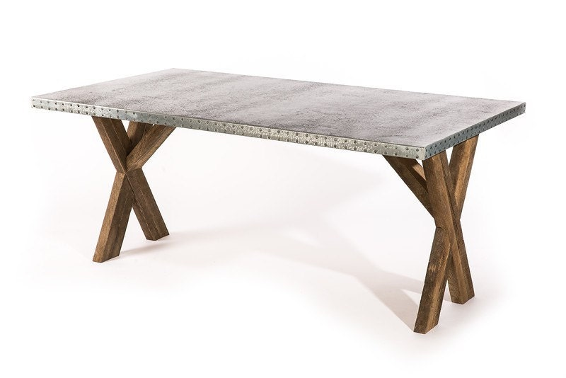 Zinc Table Zinc Dining Table Base Trestle Zinc Metal Top : ilfullxfull6827363238aus from www.etsy.com size 800 x 534 jpeg 42kB