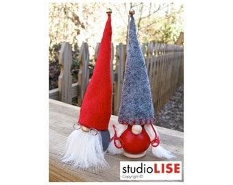 Gnome Grandma Grandpa, Swedish Tomte. Featured in Better Homes & Gardens. Handmade by studioLISE.