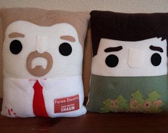 shaun of the dead, pillow, plush, cushion, novelty