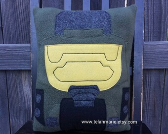 Master Chief, Halo inspired, pillow, plush, cushion