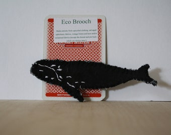 Right Whale brooch, Right whale pin, whale jewlery, eco friendly gift