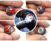 Captain America  inspired  Winter Soldier's Arm European style large Hole Bead Charm / Made to order