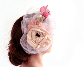 Roses and Flowers - all handmade - decorated in shades of pink with flowers vintage fabrics and fun!