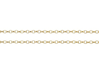 14Kt Gold Filled 1.2mm Rolo Chain - 20ft (2482-20) Bulk Chain at quantity discount
