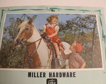 Miller Hardware, 1962, Calendar, Advertising