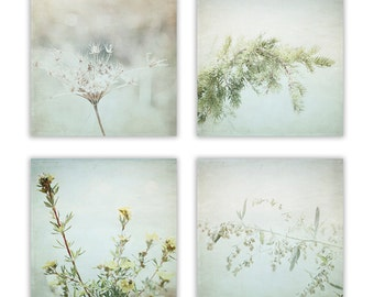 Nature Photography, dreamy nature decor, rustic wall art, wildflower, nature decor, nature wall art  - Set of 4 - Fine Art Photographs