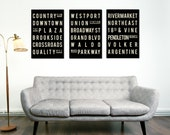 Kansas City Art, Typography Poster, Christmas Gift, Holiday Gift Guide, Gifts for Him, Gifts for Her, Wall Art, Best Friend