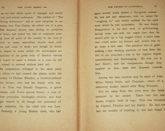 Antique Paper printed 1879 Horatio Alger Young Miner 100+ pages