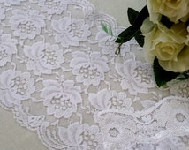 Lace runner, white lace runner, wedding runner, rustic wedding, lace