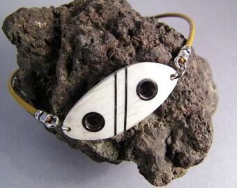 Handmade Antler Anklet SHIPS IMMEDIATELY Handmade Inlaid Western Elk Antler Ankle Bracelet