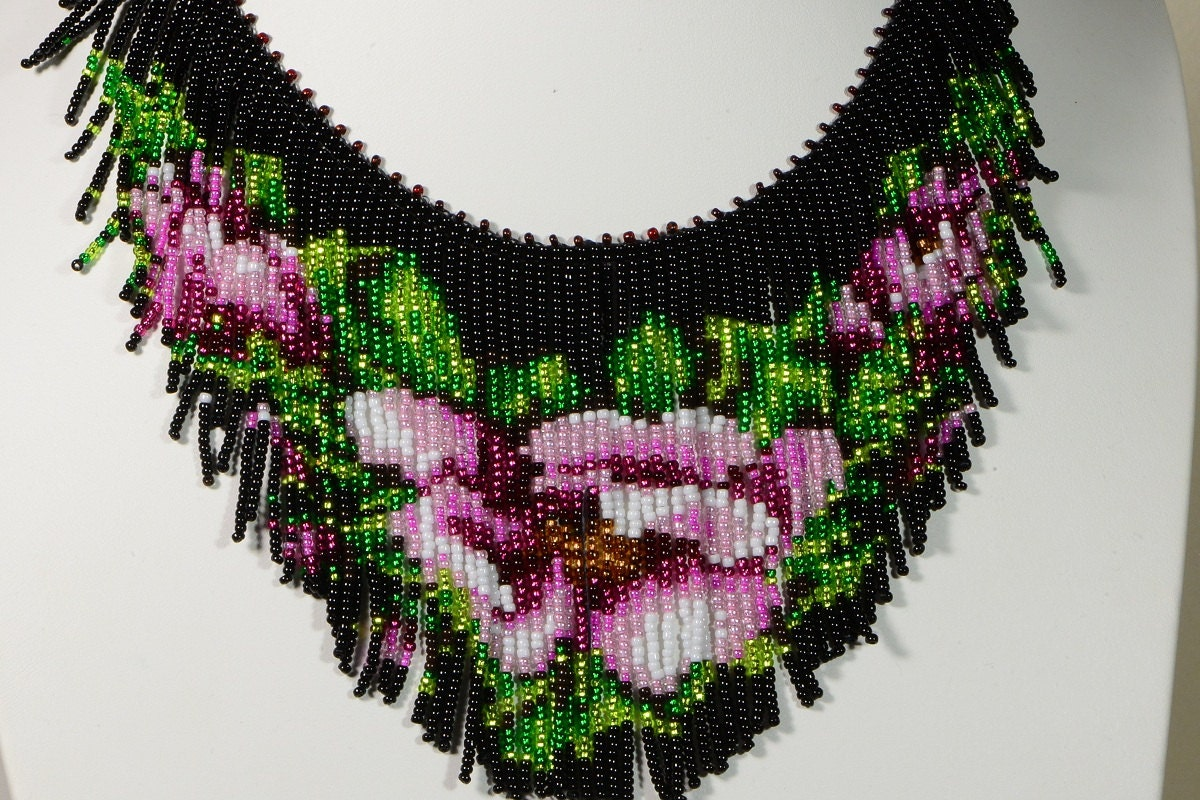Beaded Necklace Tutorial Seed Beads Necklace Pattern How