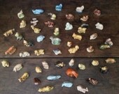Vintage Wade Whimsies Whimsie Figurines Collection / Job Lot Of 50 / English Shop
