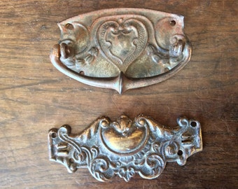 Vintage English Metal Drawer Pulls Handles circa 1920's / English Shop