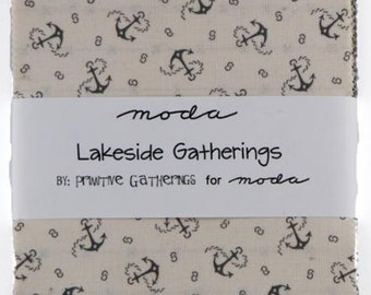 Lakeside Gatherings Charm Pack designed by Primitive Gatherings for Moda