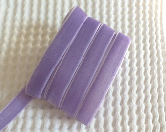 3 Yards Iris Purple Velvet Ribbon 3/8 inch - 43