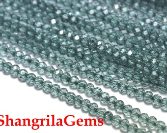 3mm 13.5in blue green Mystic Quartz faceted roundelles MYQ04 SALE FROM 22 pounds