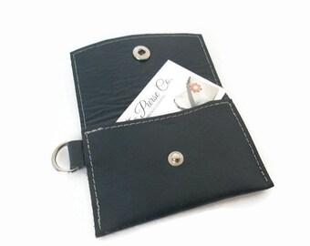 Leather Wallet, Minimalist Wallet, Keychain Wallet, Leather Business Card Holder, Business Card Case, Credit Card Case, Change Purse