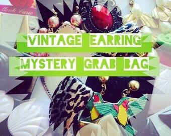 Mystery Grab Bag - One Pair of Vintage Earrings