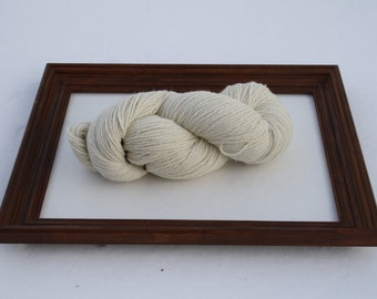 SUPER-SIZED SKEIN! Royal Baby Alpaca Yarn Worsted Weight Natural White 200 grams