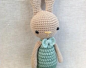MARCEL   Crochet Bunny Amigurumi Bunny Handmade Rabbit