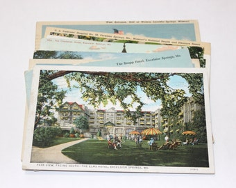 12 Vintage Excelsior Springs Missouri Postcards Used