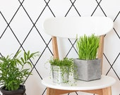 Diamond Trellis Allover Wall Stencil for DIY Wallpaper Decor