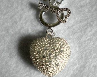 Open Heart Sterling Swarovski Necklace