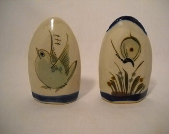 Vintage Mexican Pottery Salt And Pepper Shakers Ken Edwards Tonala