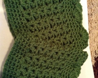 Boot Cuffs, accessories,  ready to ship, green color. One size fits all.