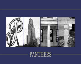 Pitt Panthers Alphabet Photography Letter Art - (various sizes)