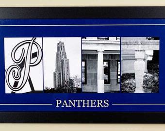 University of Pittsburgh Alphabet Photography Framed  - 10 X 20