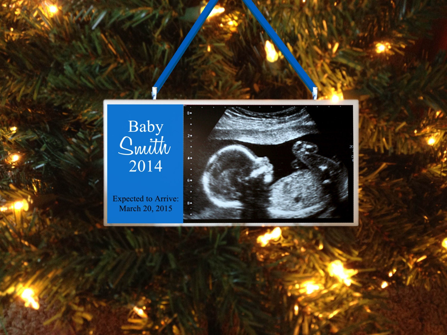 New baby christmas ornament -  Zoom