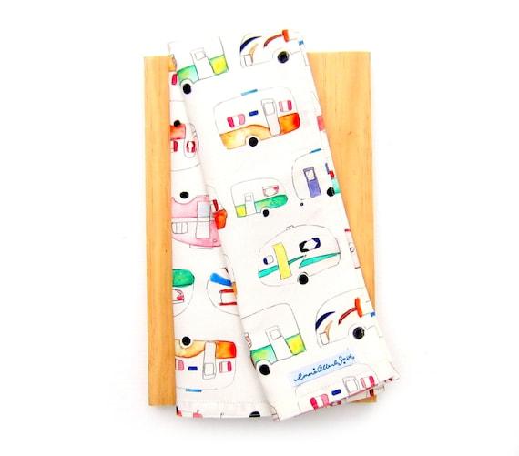 Tea Towels Unique: Caravan Tea Towel Unique Print Camper Trailer By