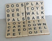 Scrabble Art Coasters - Dog Lovers Theme - Set of Four