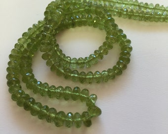 Peridot Faceted Rondelles-5mm