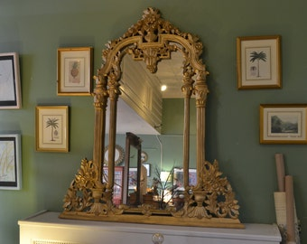 Carved Wood Gold Mirror