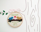 Baby birth stats keepsake, baby birth announcement nursery decor, personalized embroidery hoop, baby name art, gift for baby girl/ baby boy