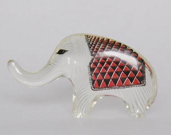 Vintage Abraham Palatnik Lucite Elephant Figurine