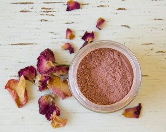 Rose Clay Facial Mask - All-natural - clay - rose hip - coconut milk - purify - beautify - cleanse