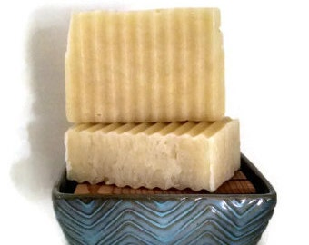 Peppermint Soap - Natural Handmade Bar - Aromatherapy Soap - Hot Process Bar - Palm Free - Delicate by Nature