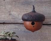 Acorn Birdhouse,   Rustic Little Birdhouse,  Bird Lover Gift, Gardener Gift, String Holder, Mothers Day Gift, Garden Decor