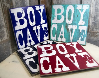 Boy Cave Wall Art for Boy's Room