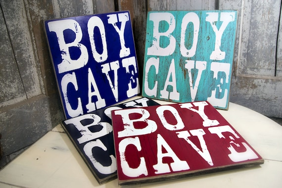 Boy Cave Sign Personlized Baby Gift Baptism Gift Nursery
