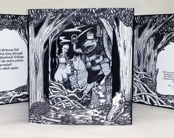 Fairytale Tunnel Book Letterpress Limited Edition Artist's Book